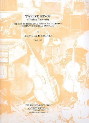 BEETHOVEN - 12 Songs Of Various Nationality Woo 157 - Sheet Music - di-arezzo.com
