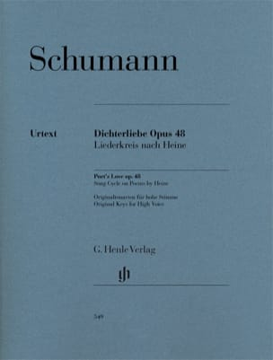 SCHUMANN - Dichterliebe Opus 48. - Sheet Music - di-arezzo.co.uk