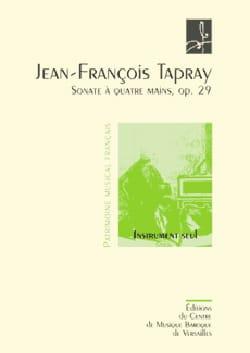 Sonate A 4 Mains Op. 29 Jean-François Tapray Partition laflutedepan