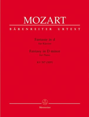 MOZART - Fantasy In D Minor K 397 385g - Sheet Music - di-arezzo.co.uk