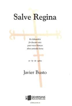 Javier Busto - Salve Regina - Partition - di-arezzo.fr