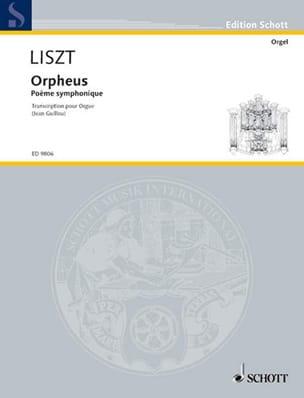 Orpheus LISZT Partition Orgue - laflutedepan