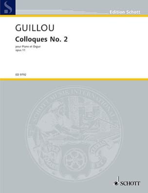 Colloque N° 2 Opus 11 Jean Guillou Partition Orgue - laflutedepan