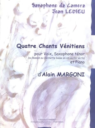 Alain Margoni - 4 Venetian songs - Sheet Music - di-arezzo.com