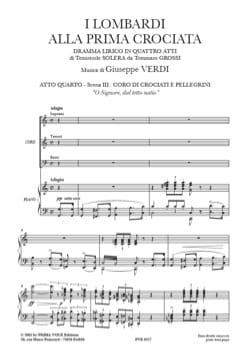 Giuseppe Verdi - O Signore, Dal Tetto Natio. I Lombardi - Partition - di-arezzo.fr