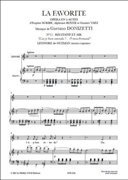 Gaetano Donizetti - O mon Fernand. La Favorite - Partition - di-arezzo.fr
