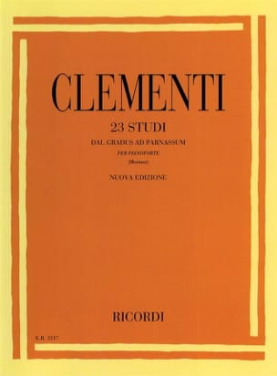 Muzio Clementi - 23 Studies Of Gradus Ad Parnassum - Sheet Music - di-arezzo.co.uk
