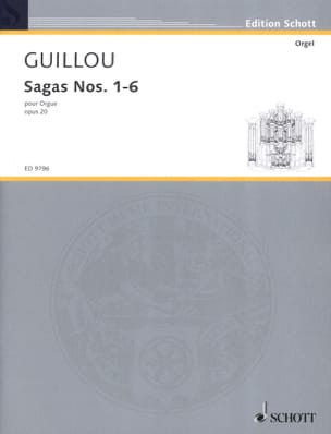 Sagas 1-6 Opus 20 Jean Guillou Partition Orgue - laflutedepan