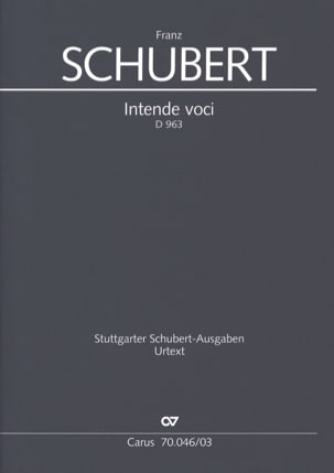 SCHUBERT - Intende Voci D 963 - Sheet Music - di-arezzo.co.uk