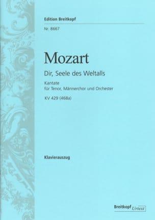 MOZART - Dir, Seele des Weltalls K 429 - Partition - di-arezzo.fr