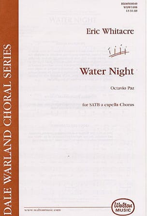 Eric Whitacre - Water Night - Partition - di-arezzo.fr