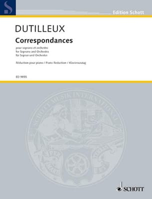 Henri Dutilleux - Correspondances. - Partition - di-arezzo.fr