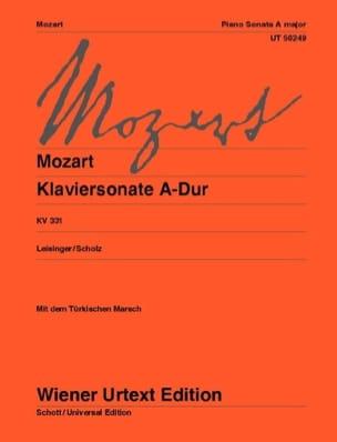 MOZART - Sonate pour piano en la majeur K 331 - Partition - di-arezzo.fr