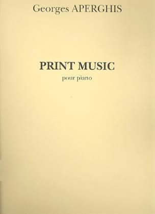 Print Music Georges Aperghis Partition Piano - laflutedepan