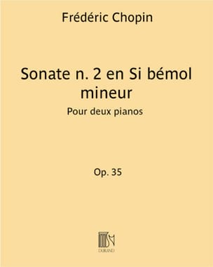 Chopin Frédéric / Saint-Saëns Camille - Sonate En Si Bémol Mineur Opus 35. - Partition - di-arezzo.fr