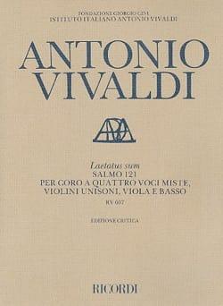 Antonio Vivaldi - Laetatus Sum RV 607 - Partition - di-arezzo.fr