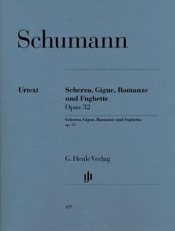 Scherzo, Gigue, Romance Und Fuguette Opus 32 SCHUMANN laflutedepan