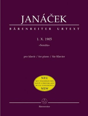 Sonate 1 X 1905. Nouvelle Edition JANACEK Partition laflutedepan