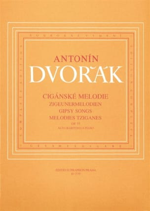DVORAK - Zigeunermelodien Opus 55 Alto Or Baritone - Sheet Music - di-arezzo.co.uk