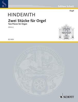 Paul Hindemith - 2 Stücke - Partition - di-arezzo.fr