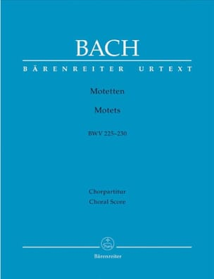 BACH - Motets BWV 225 A 230. Choeur Seul - Partition - di-arezzo.fr