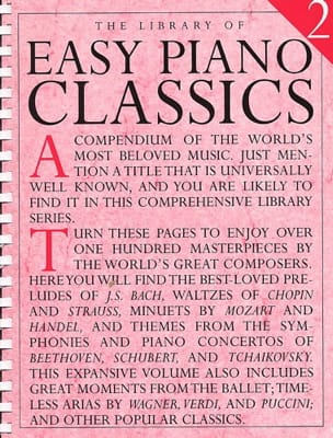 - Library Of Easy Piano Classics Volume 2 - Partition - di-arezzo.fr