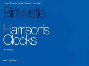 Harrison's Clocks - Harrison Birtwistle - Partition - laflutedepan.com