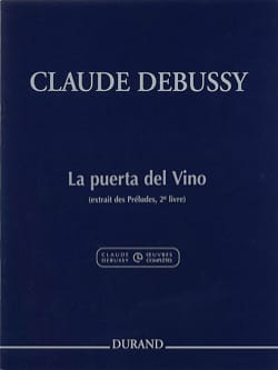 DEBUSSY - The Puerta Del Vino - Sheet Music - di-arezzo.co.uk