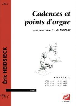 Cadences et Points D'orgue Pour les Concertos de Mozart Vol 3 laflutedepan
