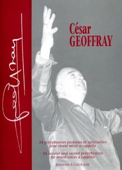 César Geoffray - 24 Polyphonies Profanes et Spirituelles - Partition - di-arezzo.fr