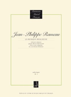 Jean-Philippe Rameau - Religious Music - Sheet Music - di-arezzo.co.uk