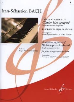 Jean-Sébastien Bach - Pièces Choisies Du Clavier Bien Tempéré (Version Armature Simplifiée). Volume 2 - Partition - di-arezzo.fr