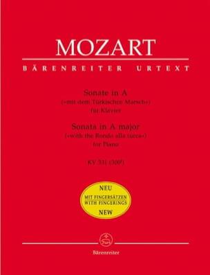 MOZART - Sonate Pour Piano En la Majeur K 331 300i - Partition - di-arezzo.fr