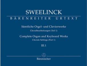 Jan Pieterszoon Sweelinck - Oeuvre pour orgue et clavier Volume 3-1 - Partition - di-arezzo.fr