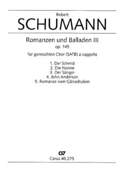 SCHUMANN - Romanzen Und Balladen 3 Opus 145 - Sheet Music - di-arezzo.co.uk