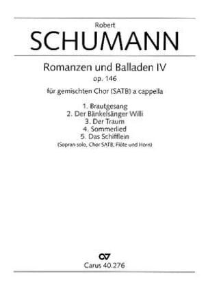 Robert Schumann - Romanzen Und Balladen 4 Op. 146 - Partition - di-arezzo.fr