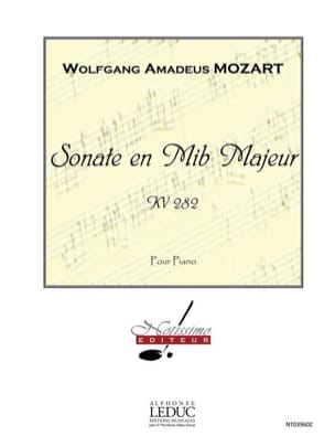 MOZART - Sonate K 282 - Partition - di-arezzo.fr