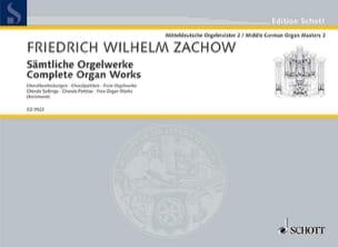 Friedrich Wilhelm Zachow - Sämtliche Orgelwerke - Partition - di-arezzo.fr