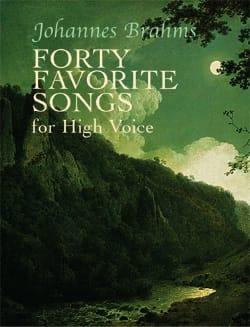 40 Favorite Songs. Voix Haute - BRAHMS - Partition - laflutedepan.com