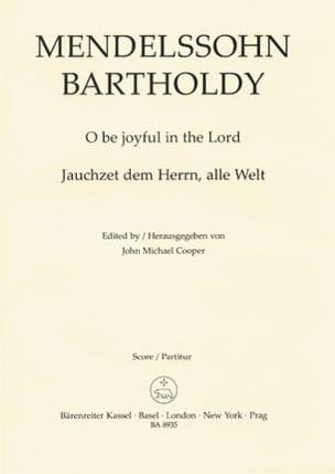 MENDELSSOHN - Jauchzet Dem Herrn, Alle Welt Op. 69-1 - Partition - di-arezzo.fr