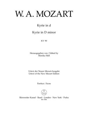 MOZART - Kyrie En Ré Mineur K 90 - Partition - di-arezzo.fr