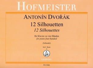 12 Silhouetten. 4 Mains Volume 2 - Anton Dvorak - laflutedepan.com
