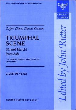 Giuseppe Verdi - Triumphal Scene From Aida - Partition - di-arezzo.fr