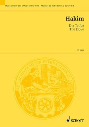 Naji Hakim - Die Taube. Conducteur - Partition - di-arezzo.fr