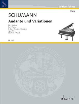 Robert Schumann - Andante et Variationen Opus 46. 2 Pianos - Partition - di-arezzo.fr