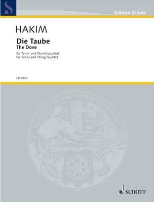Naji Hakim - Die Taube - Partition - di-arezzo.fr