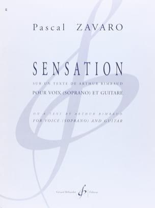 Pascal Zavaro - Sensation - Partition - di-arezzo.fr