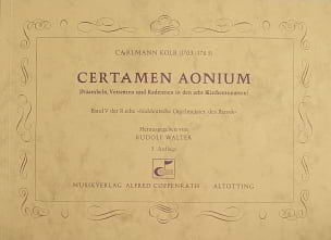 Carlmann Kolb - Certamen Aonium - Partition - di-arezzo.fr