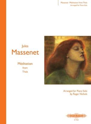 Méditation de Thaïs MASSENET Partition Piano - laflutedepan