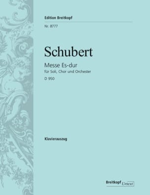 Franz Schubert - Mass in E flat Major D 950 - Sheet Music - di-arezzo.co.uk